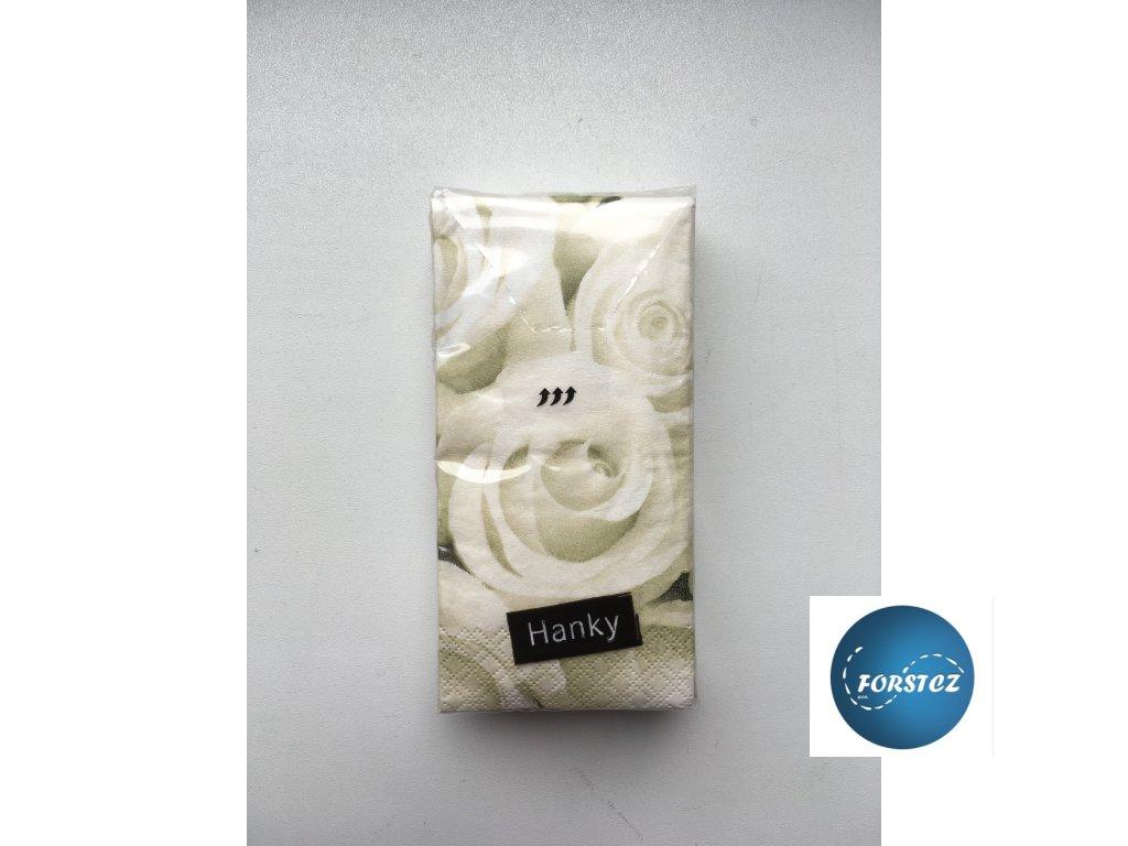 Svatební papírové kapesníčky 10 ks. - WEDDING ROSE