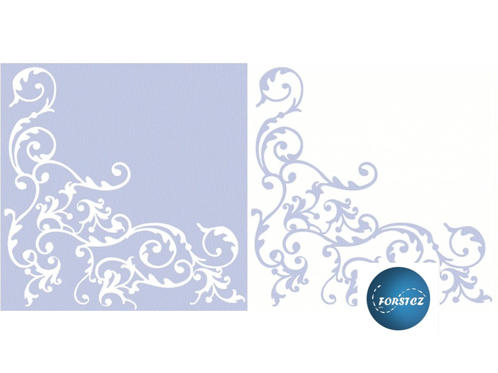 Airlaid ubrousky POMP - Silver-white/Gold-white/Gold-creme/Blue-white/Pink-white/Bordeaux-creme/Creme-mocca/Gold-red - 50 ks 40x40 cm