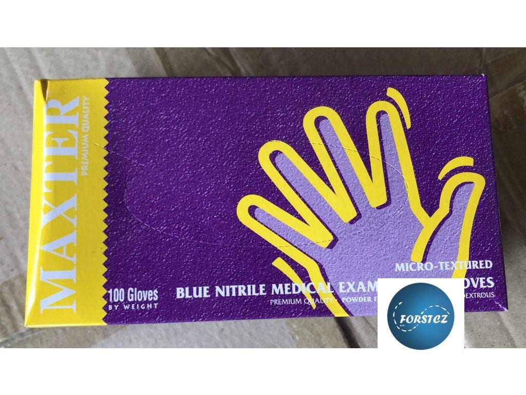 Rukavice nitrilové modré