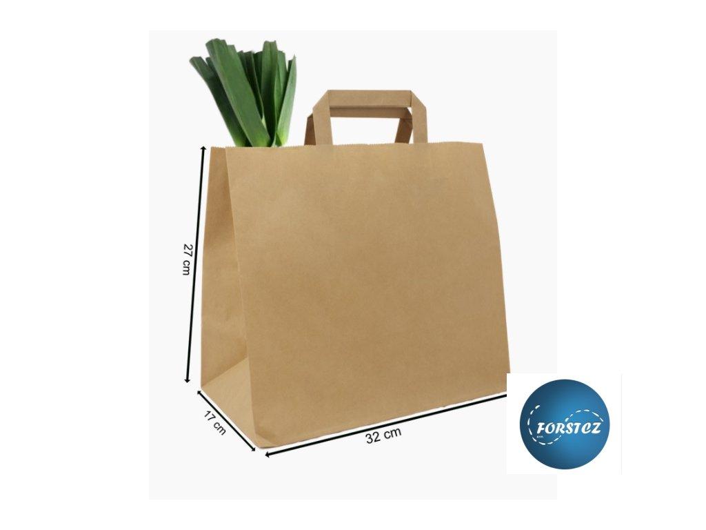 taška papírová 320+170x270 mm. 2 jpg