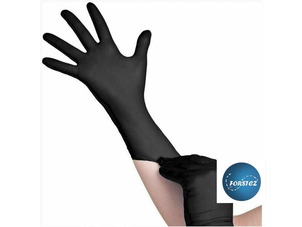 rukavice černé nitril