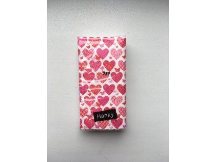 Svatební papírové kapesníčky 10 ks. - HEARTS