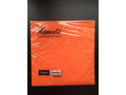 Ubrousky MOMENTS UNI ORANGE - 16ks 33x33