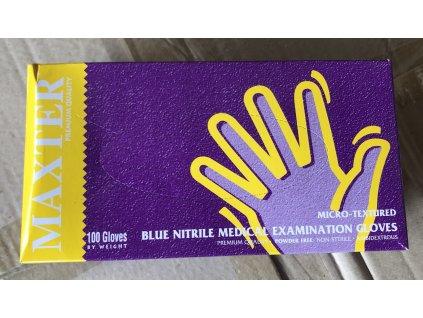 Nitrylex - rukavice jednorázové NITRILOVÉ - M,L,XL - modré