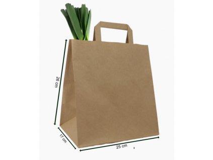 taška papírová 260+170x250 mm