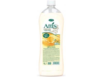 Attis tekuté mýdlo mléko med 5 lt.