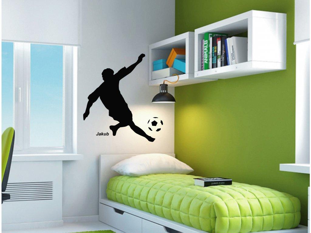 Samolepka na zeď- Fotbalista