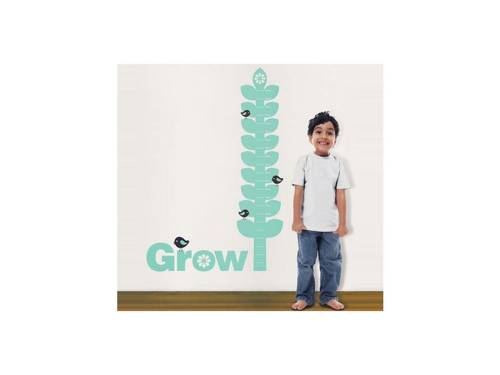 destky metr grow s chlapcem nalepka na stenu 056 031