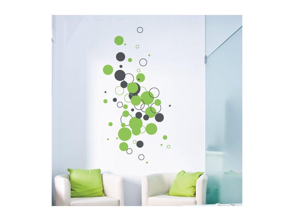 01 originalni samolepici dekorace na zed bubliny a bublinky 063 073