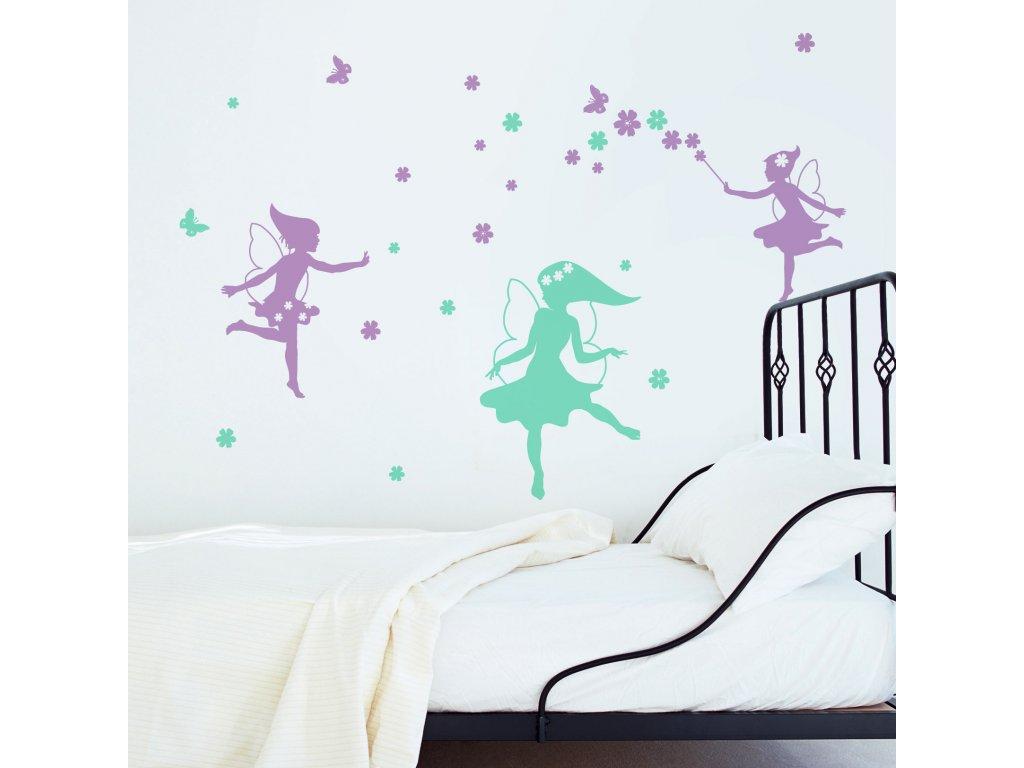 detske holcici samolepky na zdi vily nad posteli 042 055