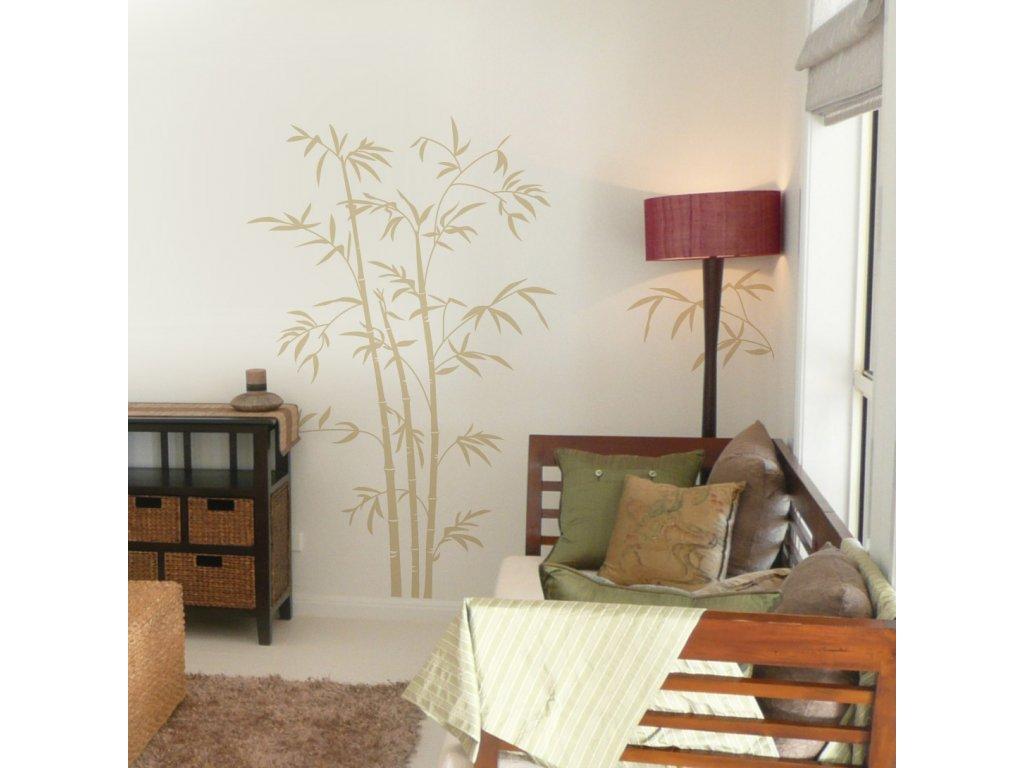bambus samolepka na zed
