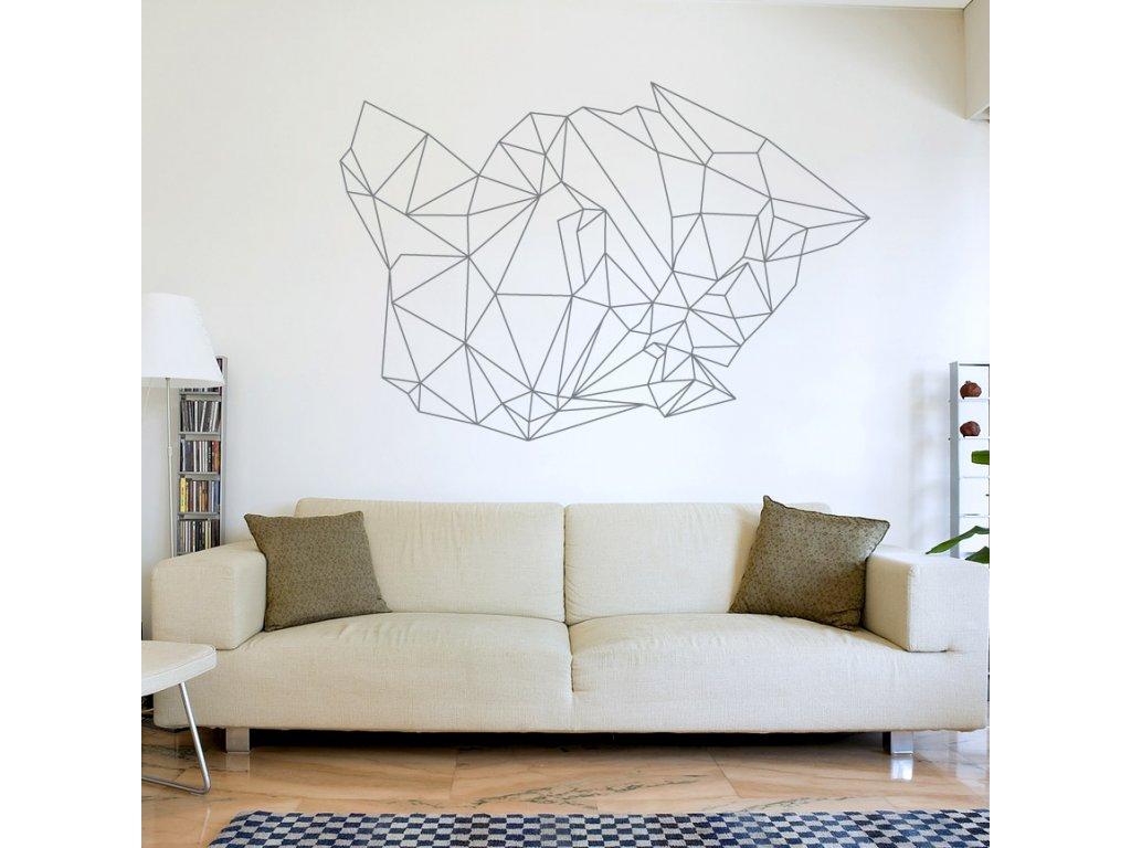 abstraktni moderni dekorace na zed geo 073