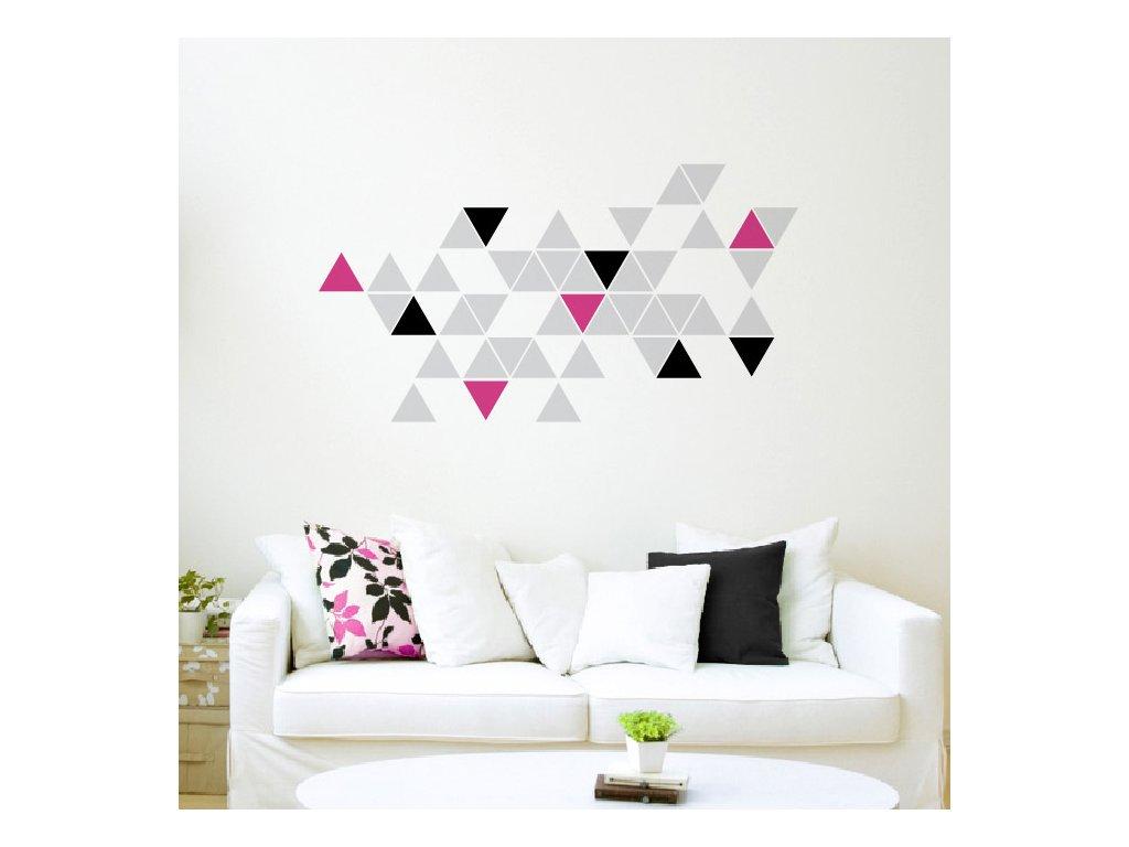 stylova moderni samolepka na zed trojuhelniky trigonum 072 070 041