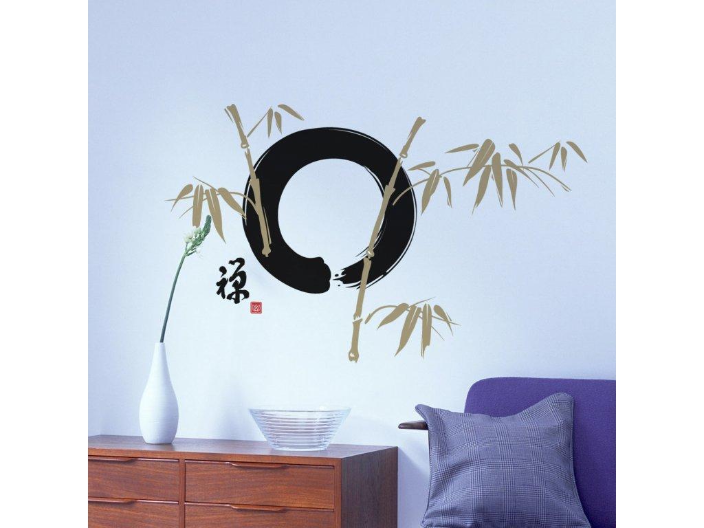 samolepka na zed zen kruh japonsky motiv