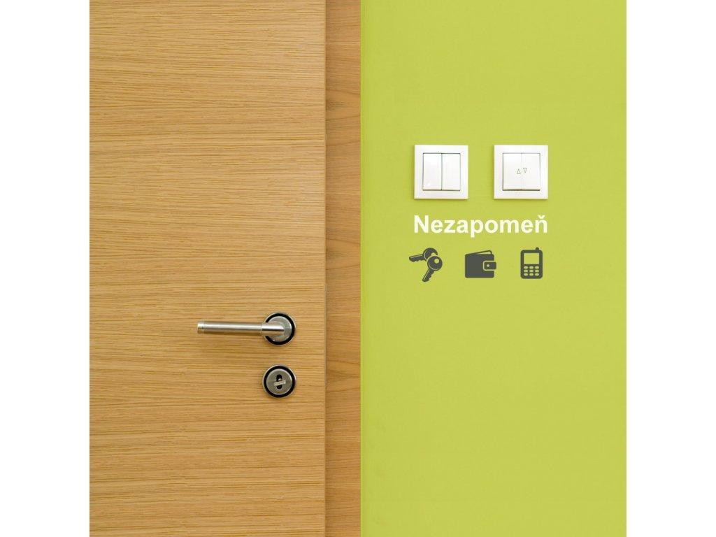 samolepky na zed nezapomen ikonky ke dverim