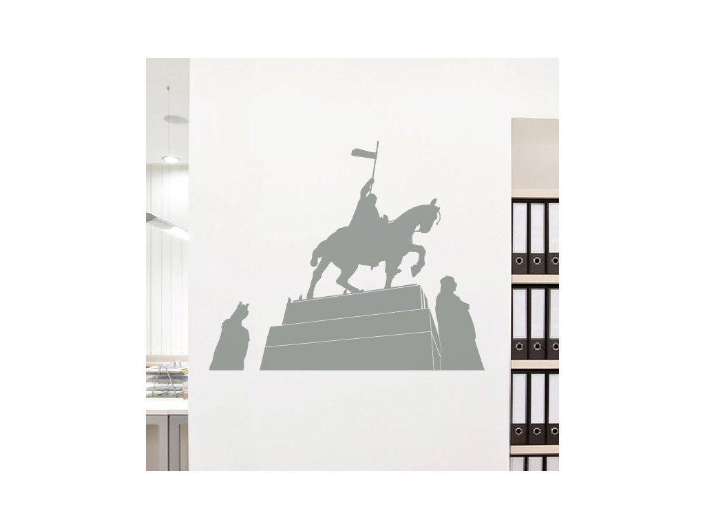 samolepici dekorace na zed do kancelare svaty vaclav