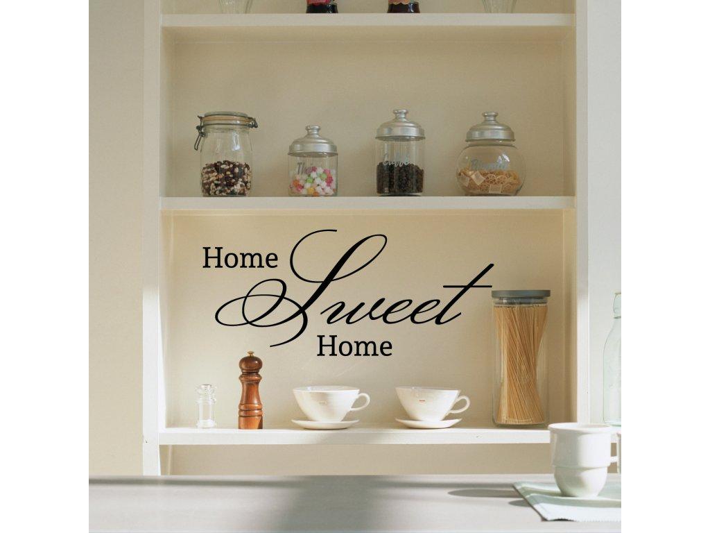 home sweet home samolepka na stenu v kuchyni