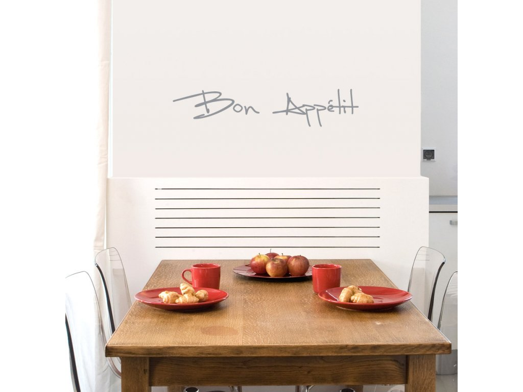 samolepka na stenu do kuchyne bon appetit nad jidelnim stolem 070