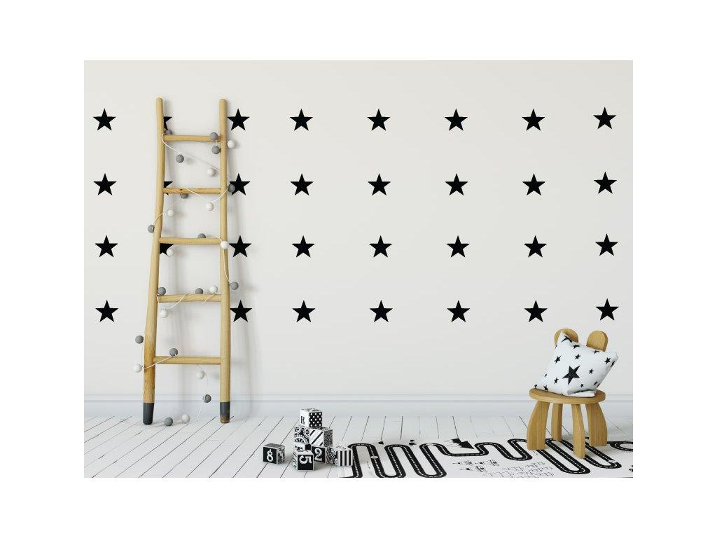 samolepky na zed hvezdicky na stene v detskem pokoji