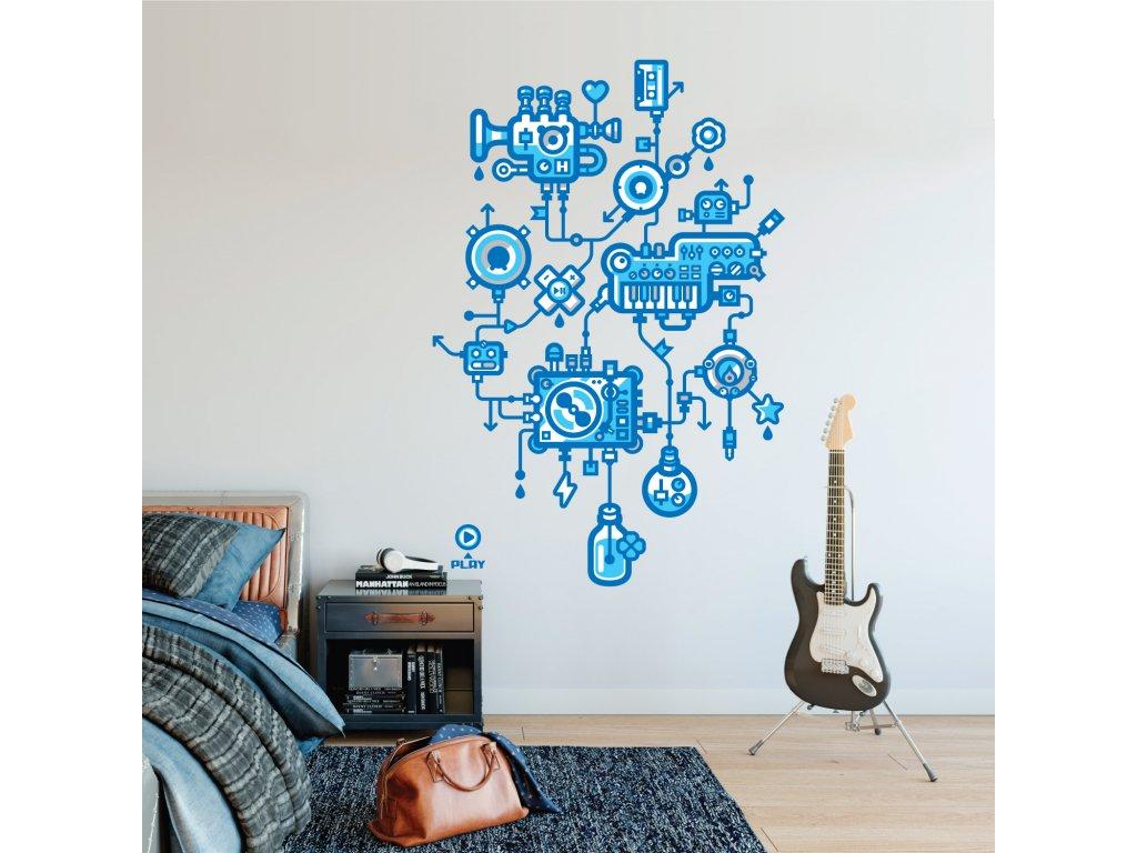 designove samolepky na zed watermusic v loznici