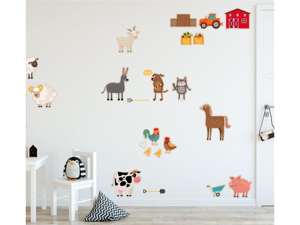farma pro deti ekologicke samolepky v detskem pokoji na stene od fugu phototex