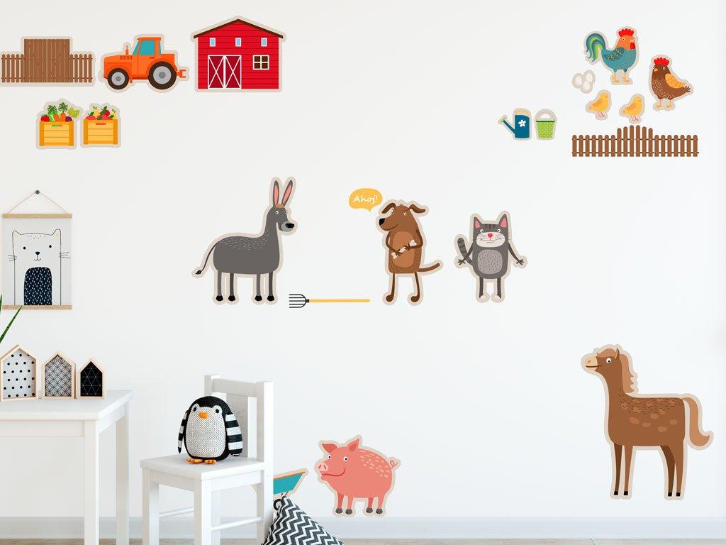farma pro deti ekologicke samolepky v detskem pokoji na stene od fugu prelepovaci