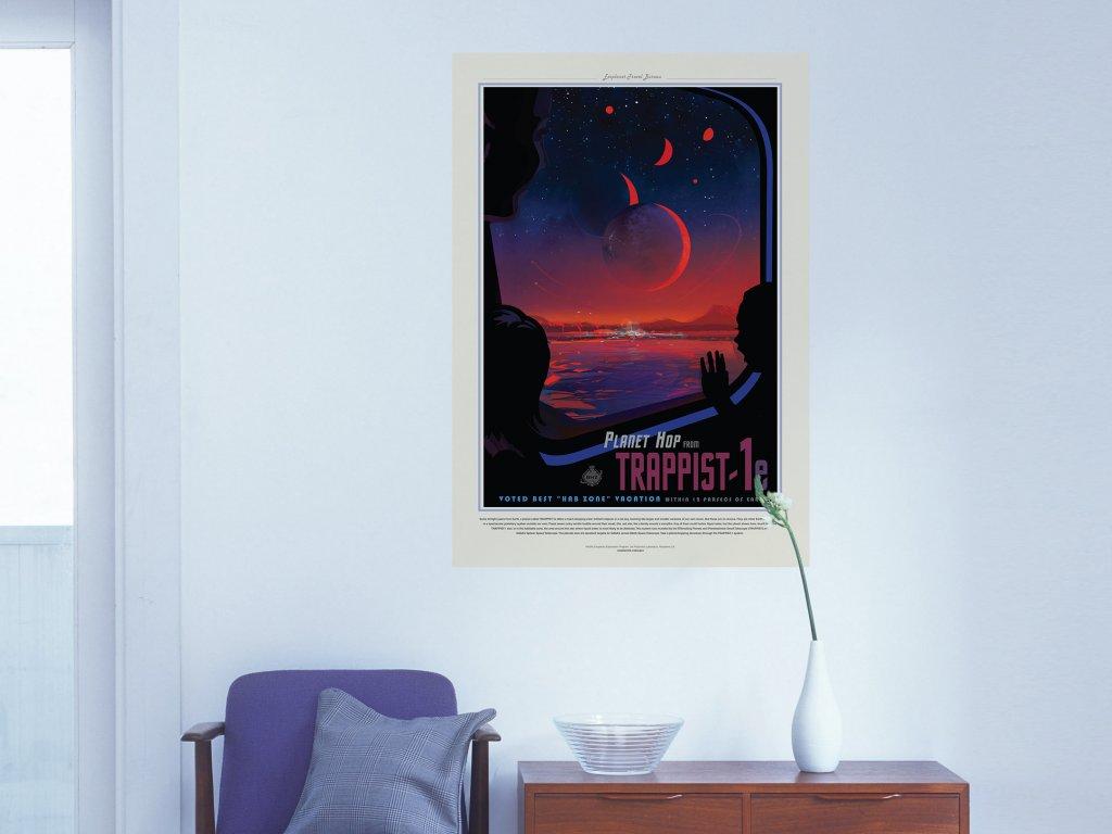 stylovy samolepici plakat cerveny trpaslik trappist