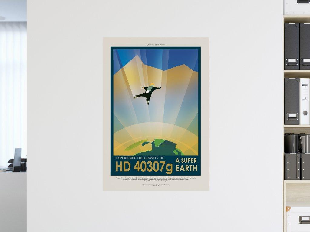 samolepici vesmirny plakat hd40307g