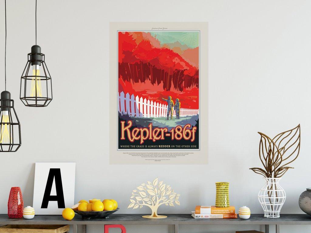stylovy samolepici plakat kepler186f