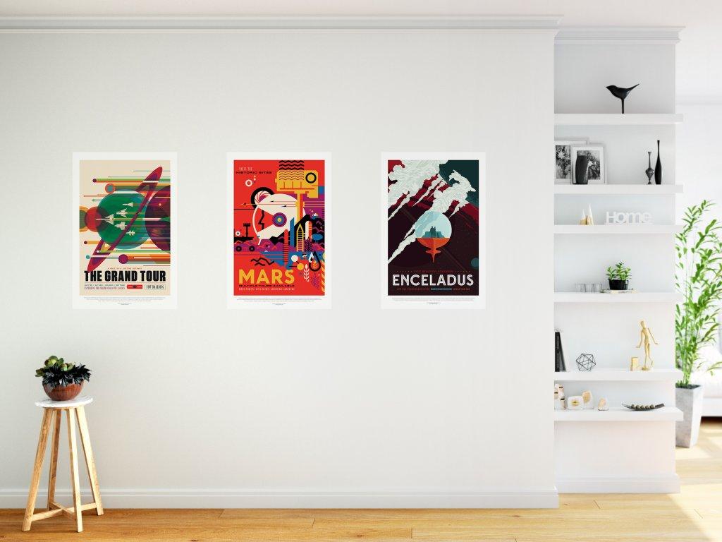 samolepici nasa plakaty sada tri plakatu za zvyhodnehou cenu