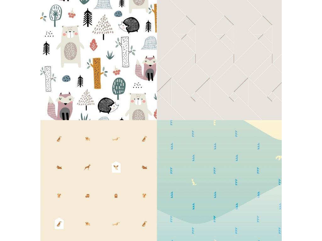 designova samolepici tapeta fugu vzorek