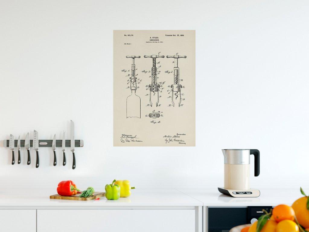 plakat do kuchyne patent vyvrtka samolepka
