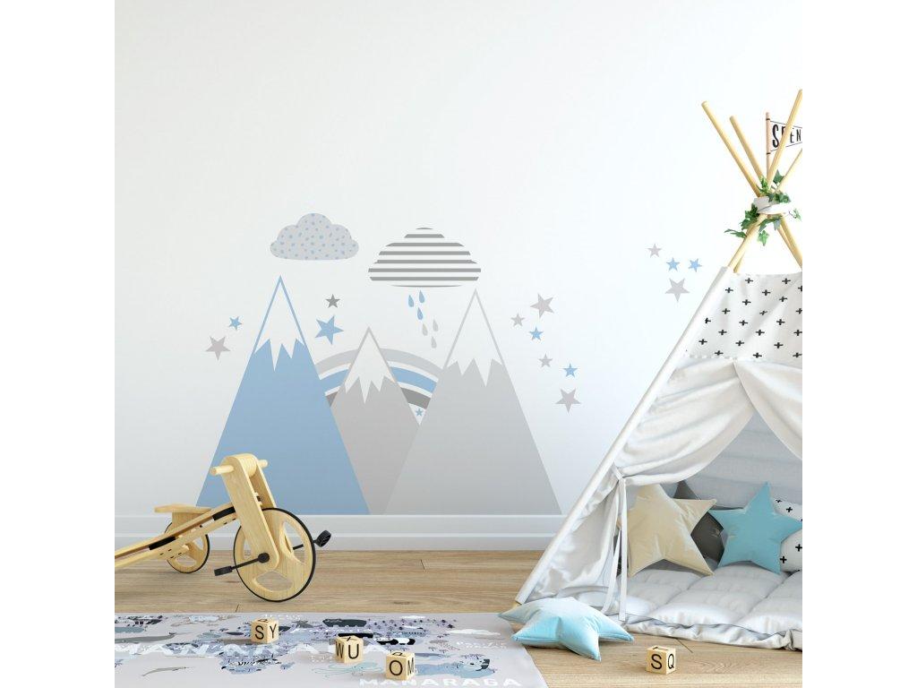 hory scandi kids modra varianta v klucicim pokoji