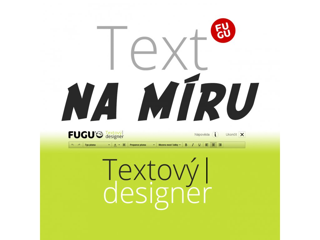 text na miru fugu textovy designer