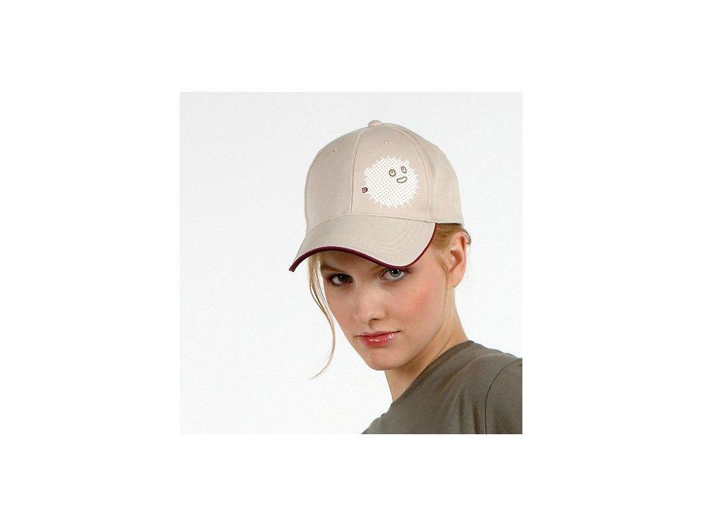 fugu 10 let čepice bezova bile logo darek k objednavce.jpg