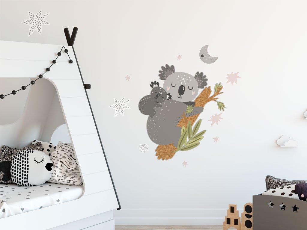 detske samolepky na zed mama a mimi koala