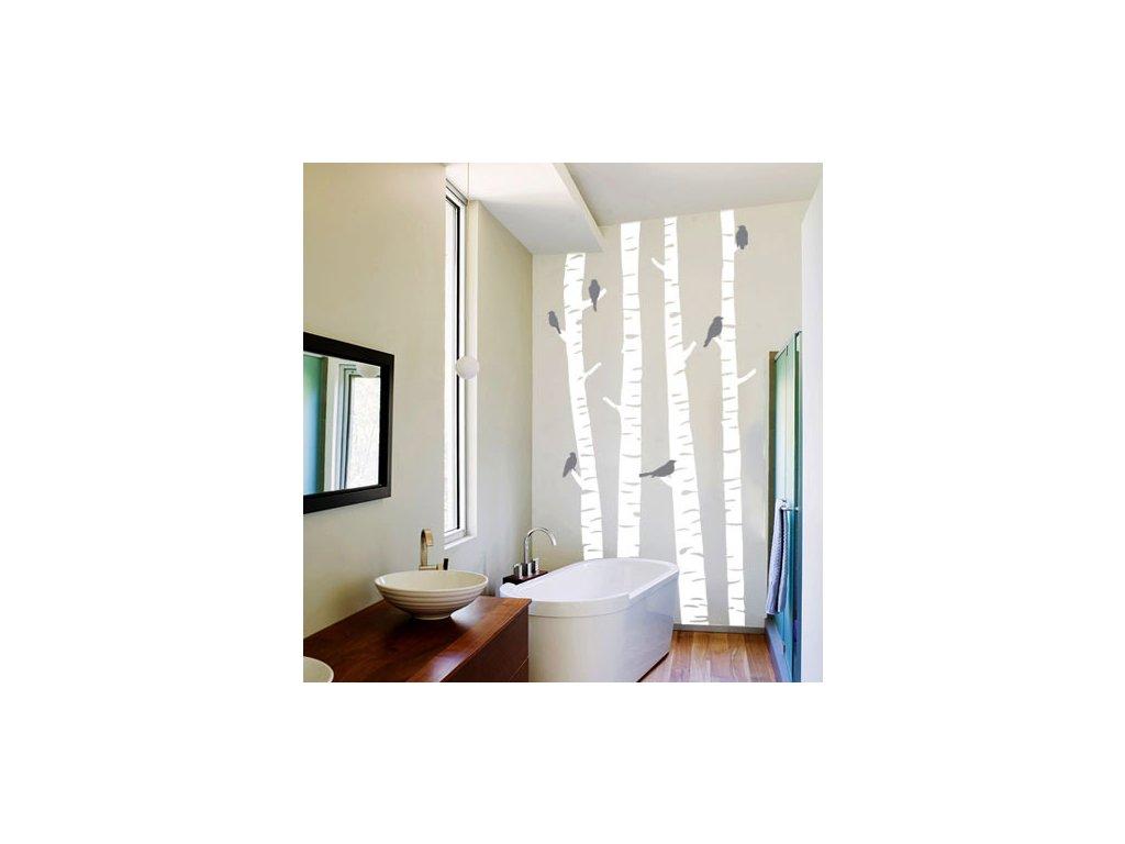 samolepici dekorace brizy a ptacci na zdi nah