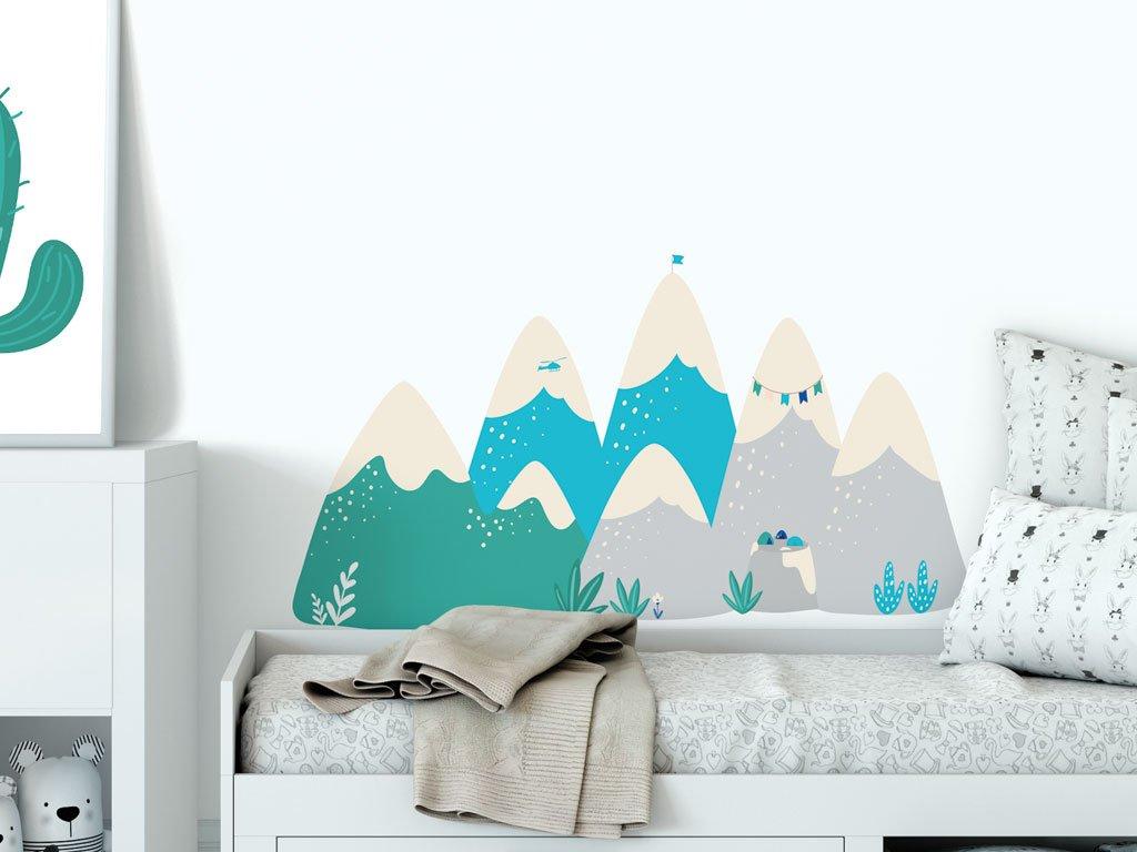 samolepici dekorace na zed expedice himalaja samolepka v detskem pokoji