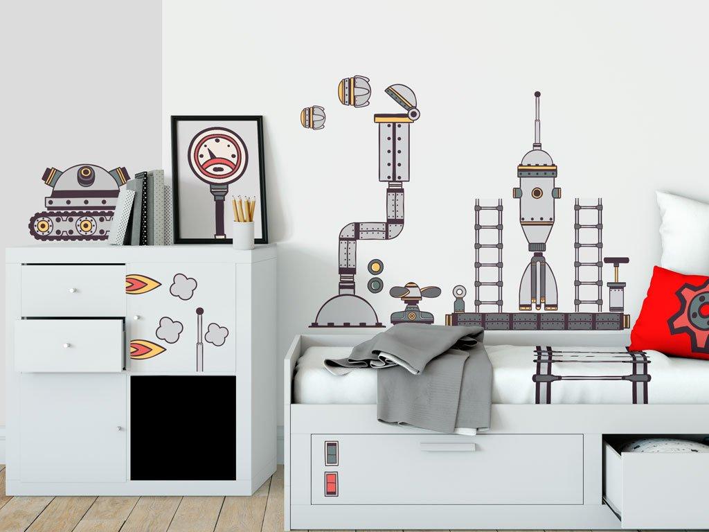 eko samolepky vesmirna stanice v detskem pokoji