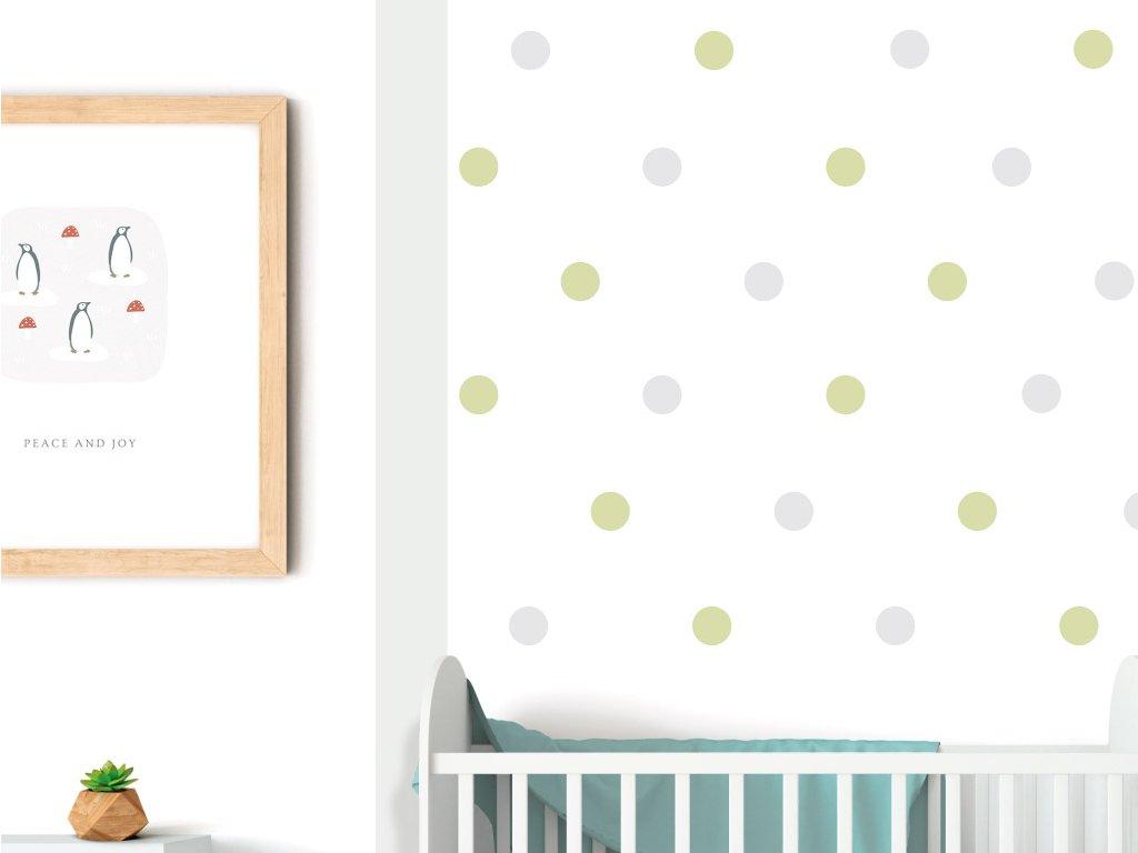 puntiky na zed samolepky do detskeho pokoje