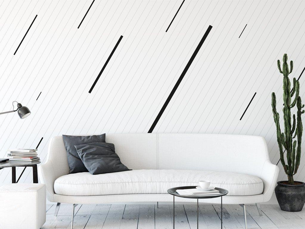tapeta na zed formal rain v interieru obyvaciho pokoje celkovy pohled