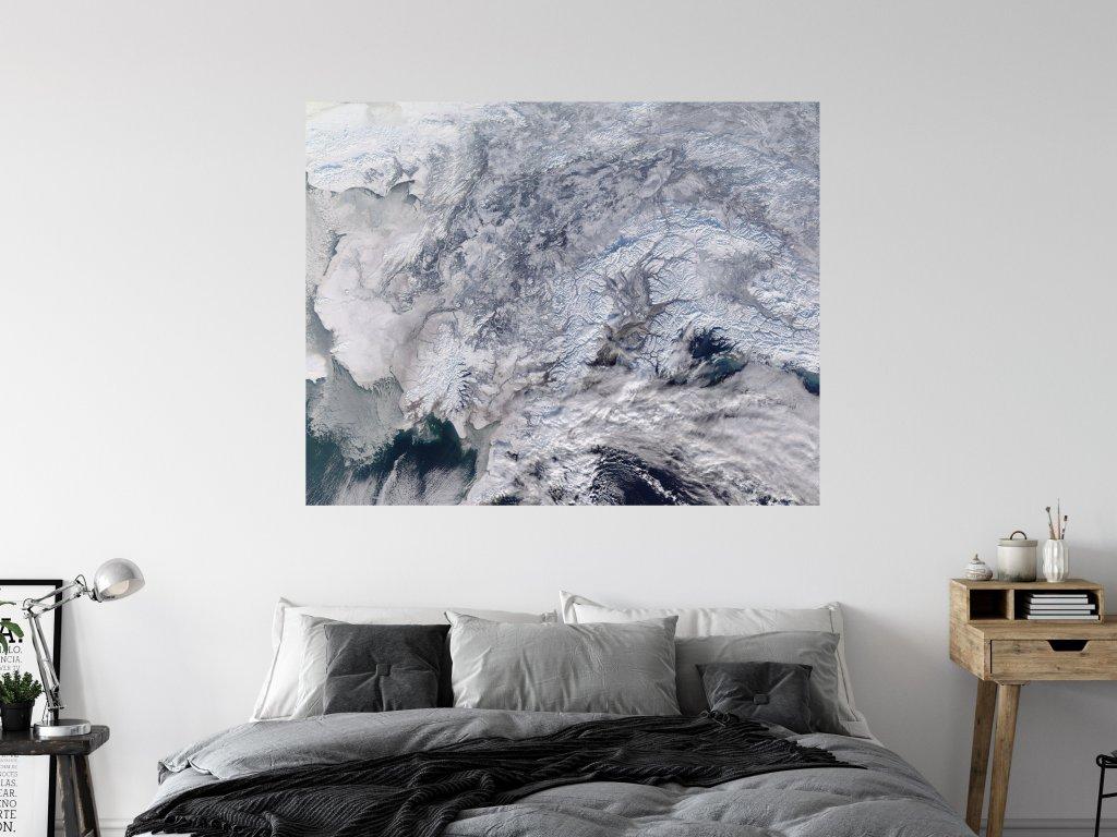 samolepici tisk na zed aljaska