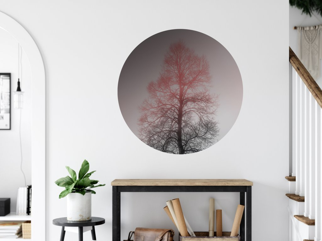 designova sanolepka na zed kruh spici strom 02