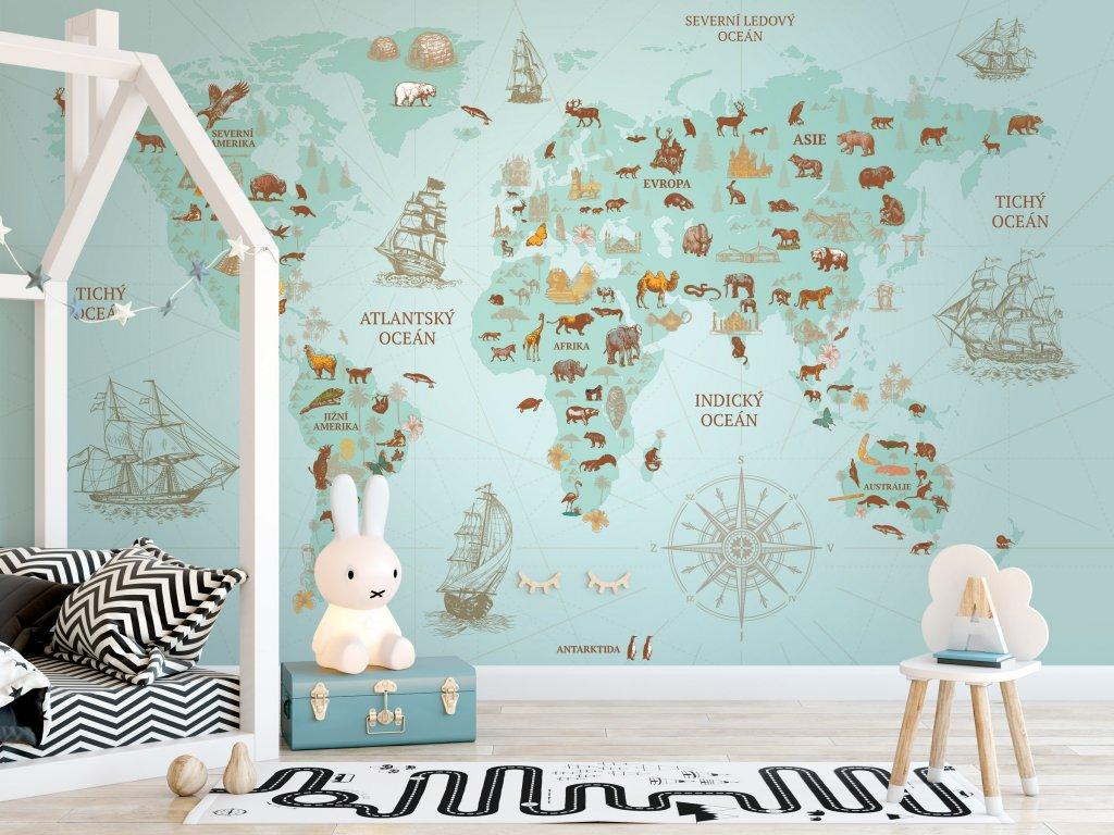 tapeta mapa sveta na zed