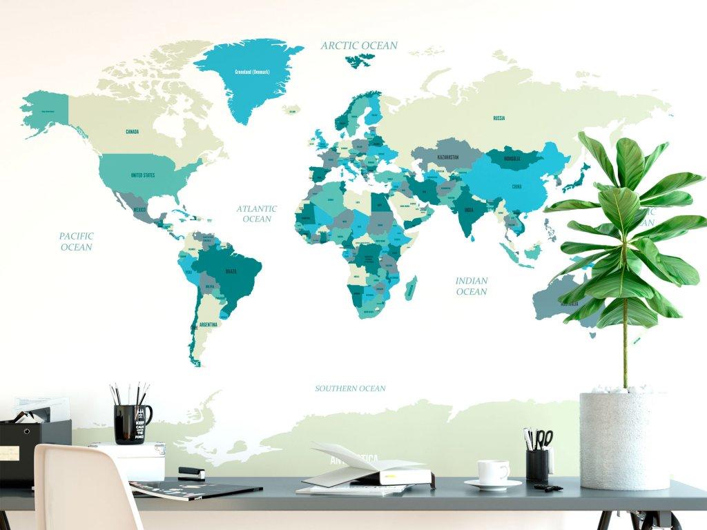 samolepici mapa sveta samolepka na zed bezova