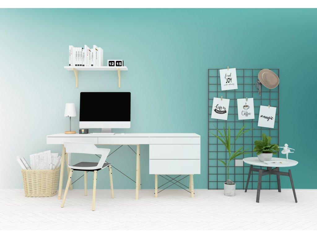 designova tapeta barevny prechod tyrkysova interier