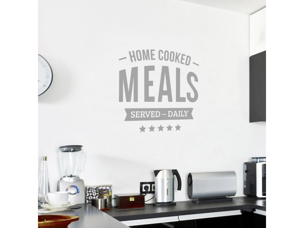 samolepici textova dekorace do kuchyne home cooked meals