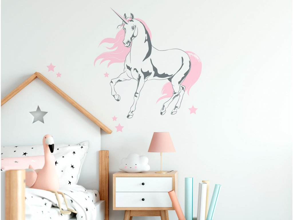 samolepka na zed jednorozec unicorn