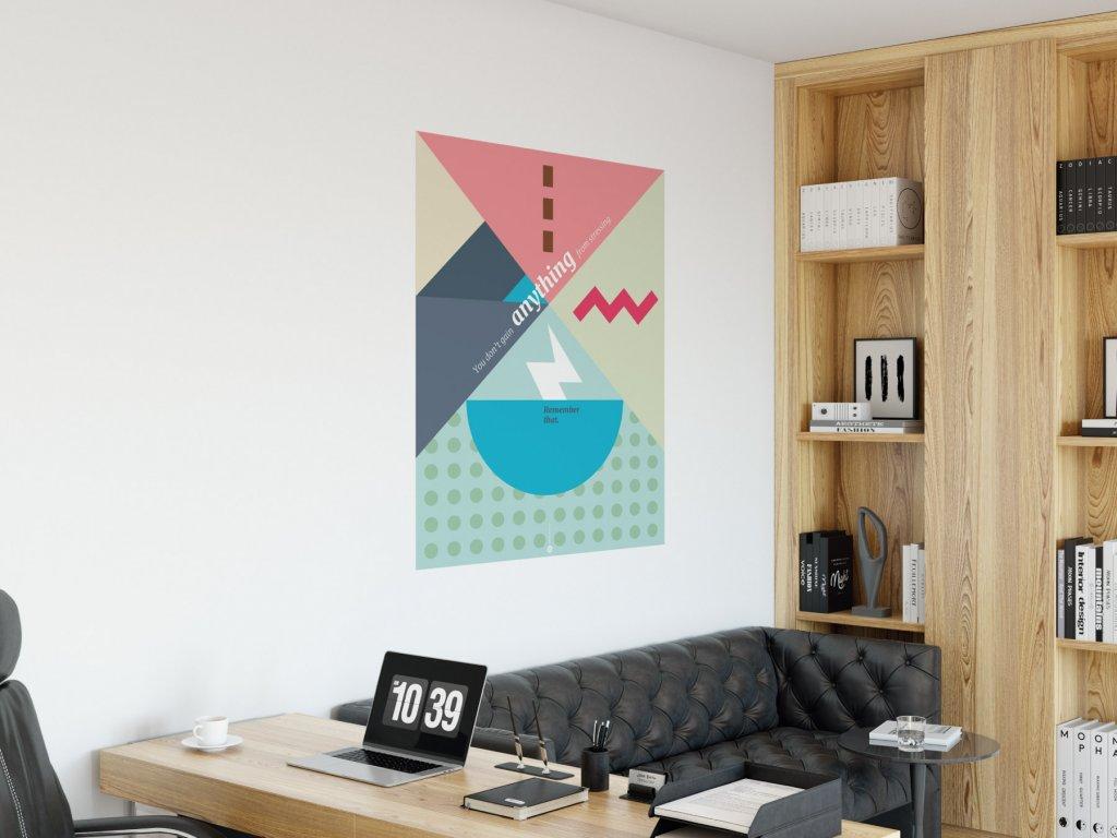 citat plakat na zed samolepici stressing v01 interier ruzova