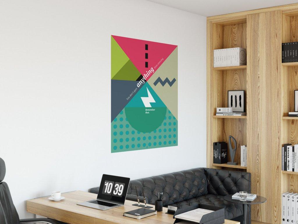 citat plakat na zed samolepici stressing v01 interier zelena